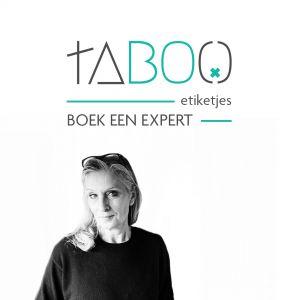 Taboo etiketjes boek een expert