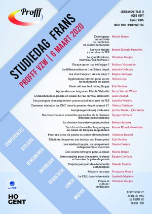 Info study day for French teachers organized by Profff vzw