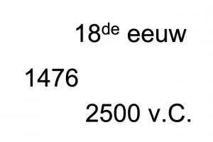 wit blad met : 18de eeuw, 1476, 2500 v.C.