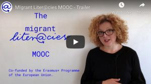 screenshot intro video MOOC Migrant Literacies