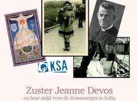 Voorpagina lesmateriaal met foto's van Jeanne Devos