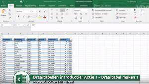 Schermafdruk uit Excel rekenprogramma