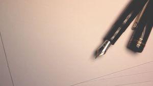 vulpen op een blad papier