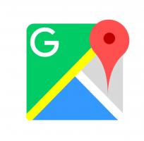 Het logo van Google Maps
