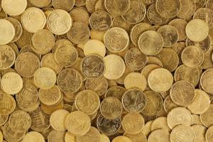 muntstukken van 10 en 20 cent door elkaar
