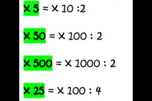 handige rekentips voor x5/x50/x500/x25