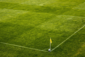 hoekpunt van een voetbalveld