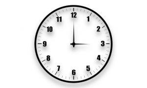 Klok drie uur