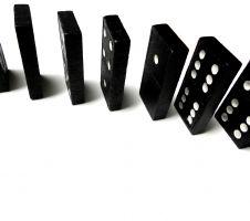 Enkel stukken uit het dominospel