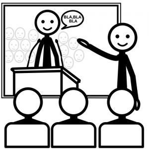 Picto van leerling voor de klas
