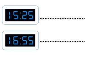 Twee digitale klokken