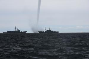 tornado op zee