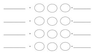 Invulblad voor cirkelrekenen