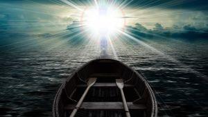 boot die richting het licht vaart