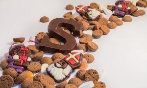 Snoepgoed, de drukletter S in chocoloade
