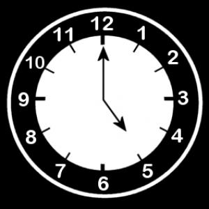 klok 5 uur