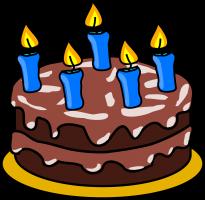 taart met kaarsen