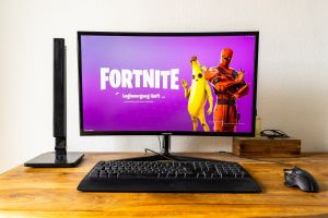 Computerscherm met Fortnite