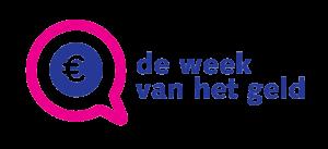 Logo van de week van het geld, euroteken in een tekstballon