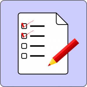 checklist met afkruisvakjes en potlood