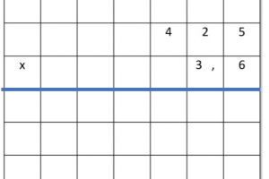 een cijferoefening met een kommagetal