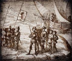 tekening van de conquest van Fuerteventura