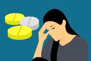 Vrouw met hoofdpijn