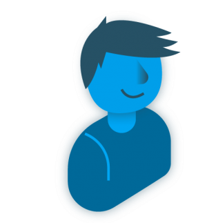 Blauw figuurtje - logo GLPI-project