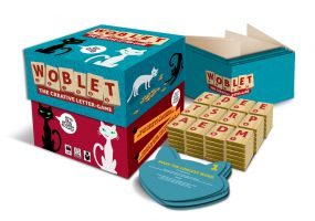 The woblet box with game equipment. Usable in 6 languages.