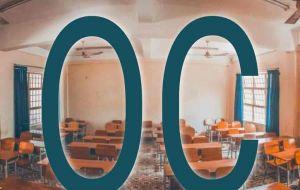 Het logo van de add-on. De letter o en c van oudercontact. Op de achtergrond zie je een klaslokaal.