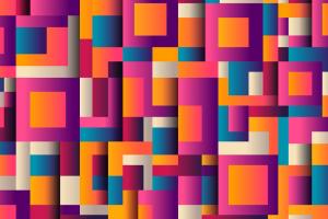 gekleurde rechthoeken en vierkanten