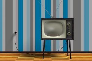 ouderwetse televisie