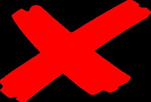rood vermenigvuldingsteken