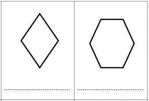 afbeelding van ruit en zeshoek