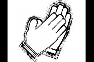 tekening van klappende handen