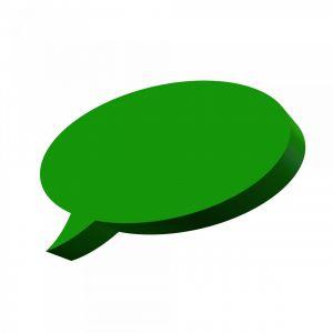 Groene tekstballon