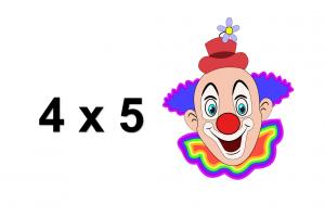 clowngezicht en oefening 4x5