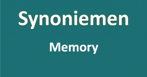 Synoniemen - memory