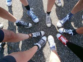 voeten in een cirkel
