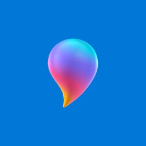 Het logo van Paint 3D.