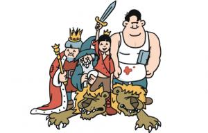 Tekening uit de strip De Leeuwen van Vlaanderen