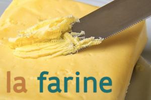 boter met de tekst la farine op