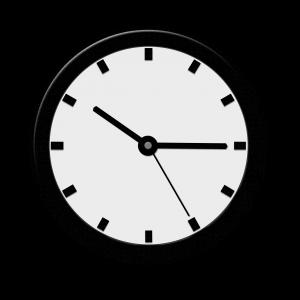 Klok met tijdsaanduiding kwart over tien