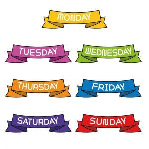 Dagen van de week in het Engels