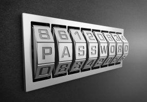Letterslot met het woord password