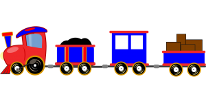 Locomotive with wagons