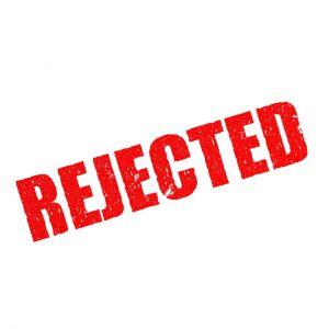 Het woord rejected op een stempel