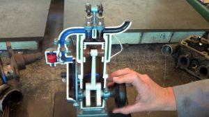 Didactische voorstelling vierslagmotor