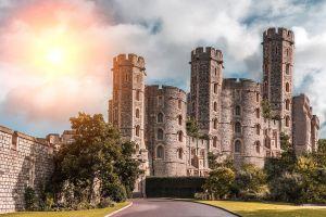 illustratie van een kasteel in de middeleeuwen