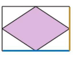 een ruit met een rechthoek rond